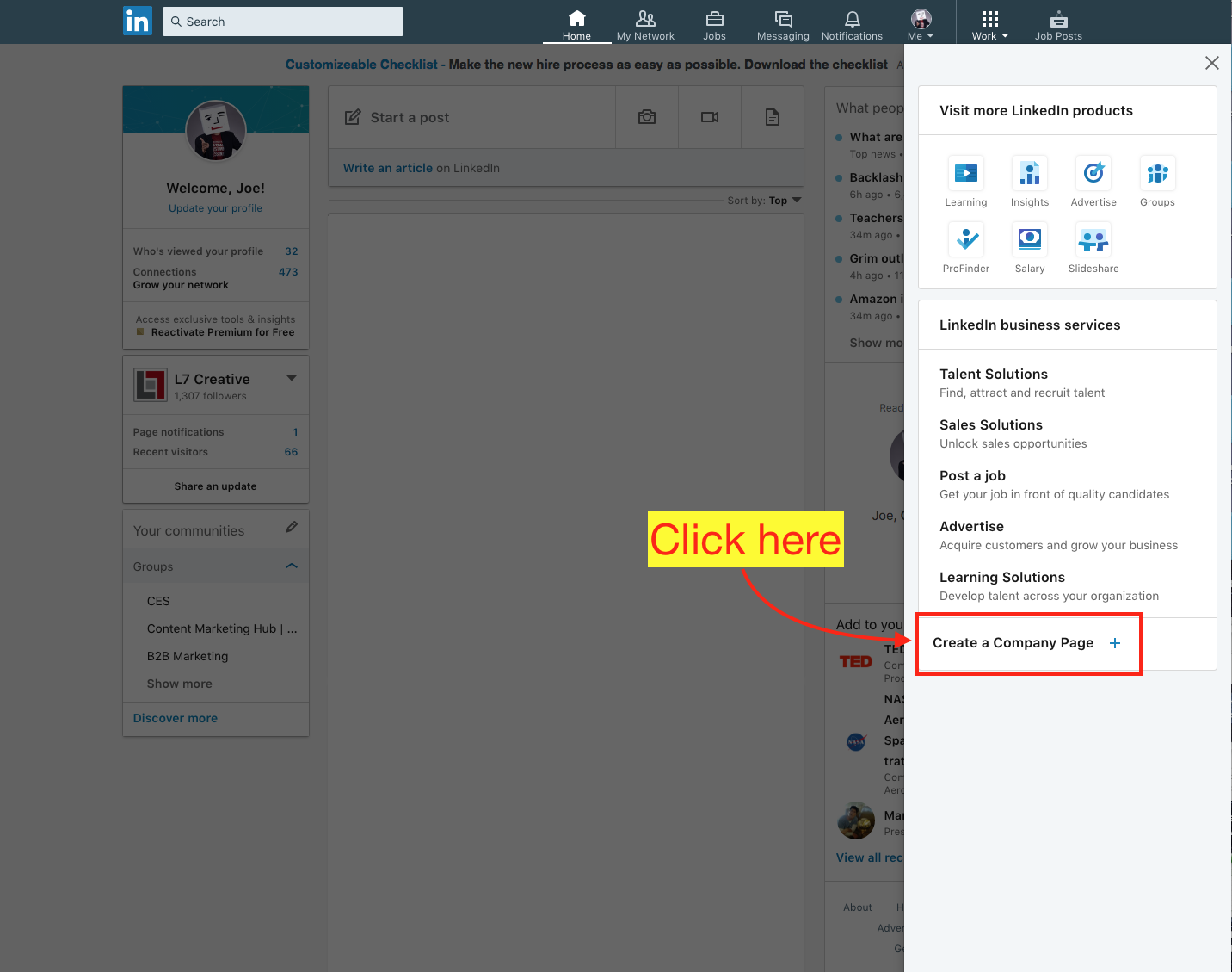 Create a New LinkedIn Company Page - Step 3 Screenshot