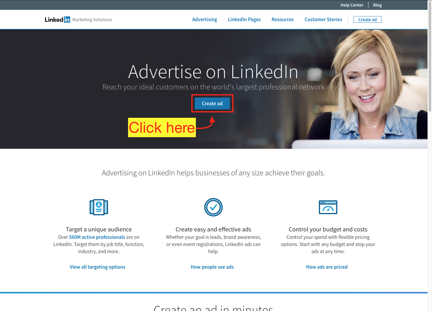How to Create a LinkedIn Ad Account - Step 4 Screenshot