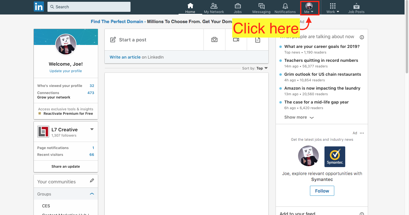 Find an Existing LinkedIn Company Page - Step 2 Screenshot
