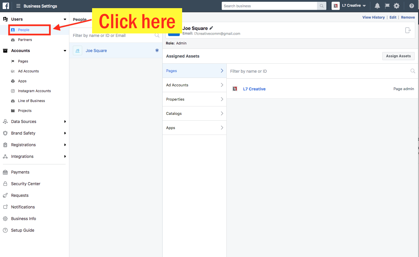 Add an Admin to Your Facebook Ad Account - Step 3 Screenshot