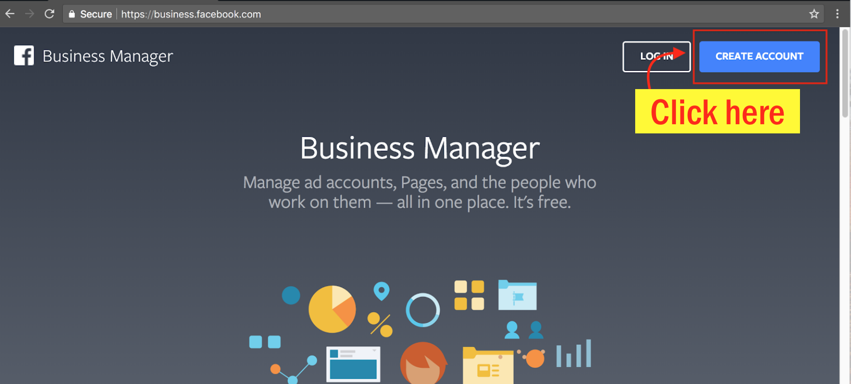 Sign Up for Facebook Business Manager - Step 3 Screenshot