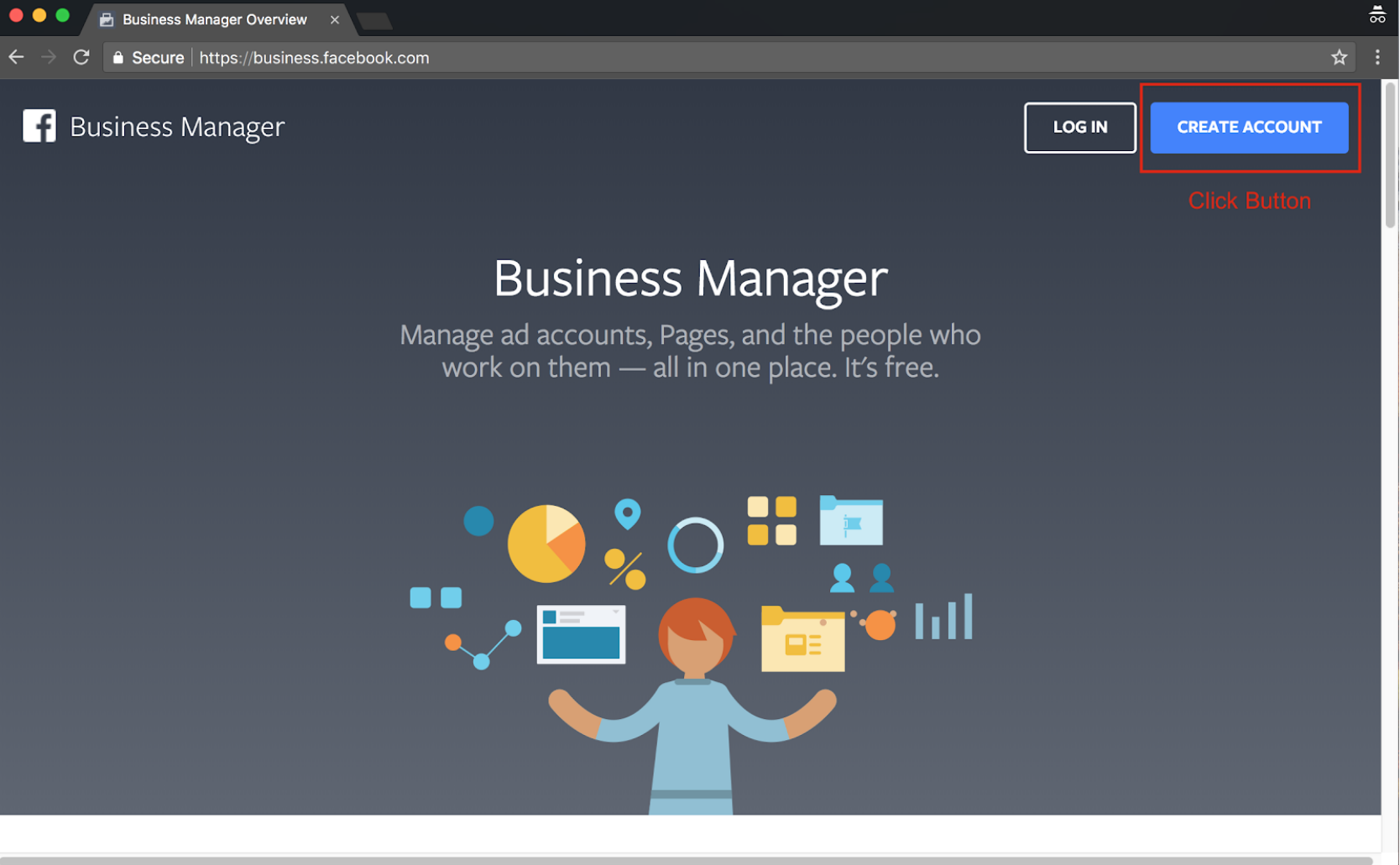 Sign Up for Facebook Business Manager - Step 2 Screenshot