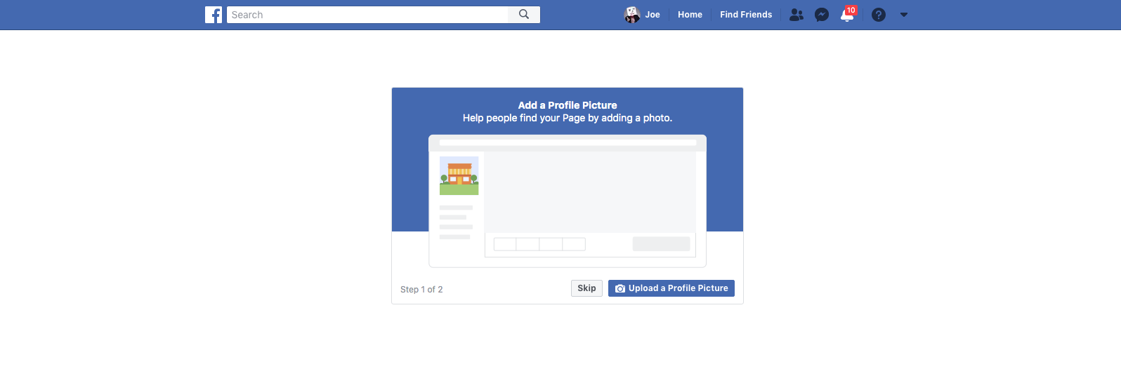 How to Create A Facebook Business Page Step 6 Screenshot