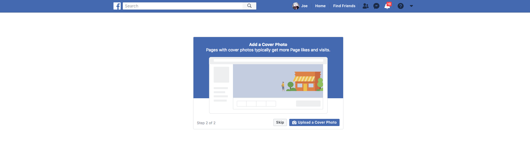 How to Create A Facebook Business Page Step 7 Screenshot