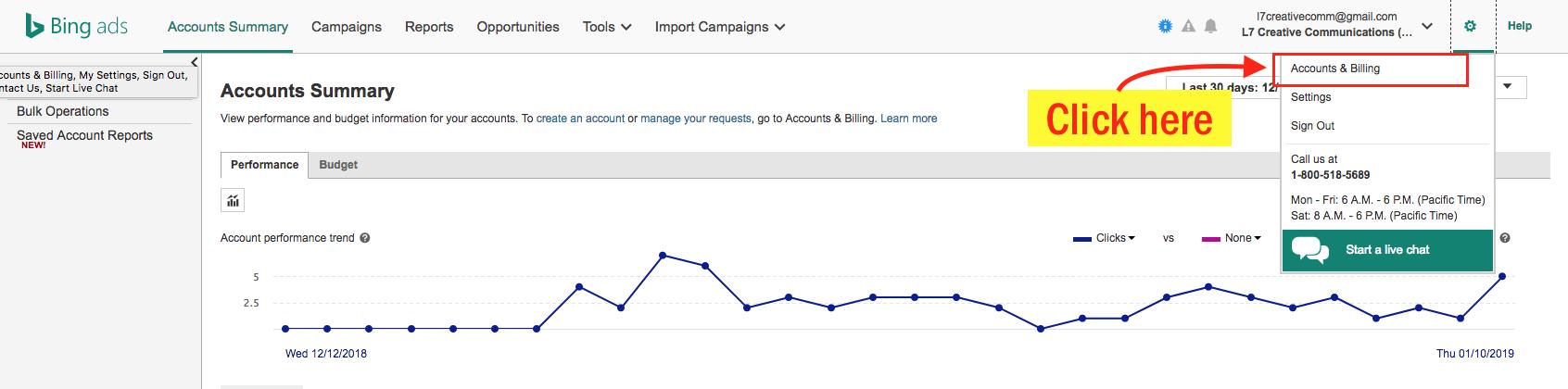 Edit Your Bing Ads Payment Info - Step 3 Screenshot