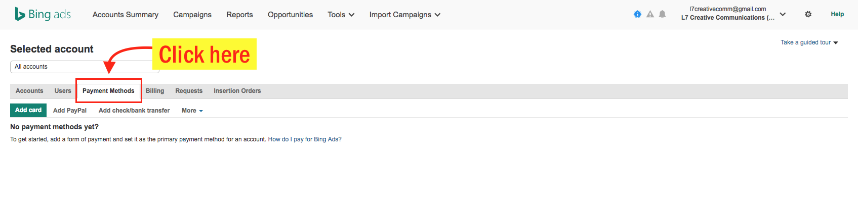 Edit Your Bing Ads Payment Info - Step 4 Screenshot