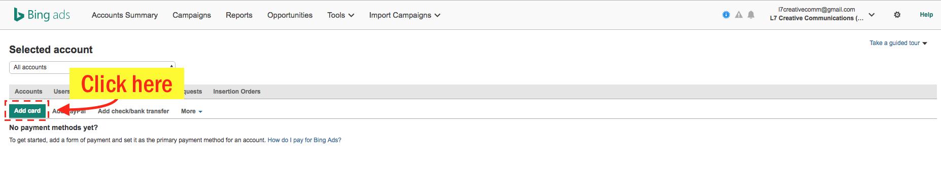 Edit Your Bing Ads Payment Info - Step 5 Screenshot