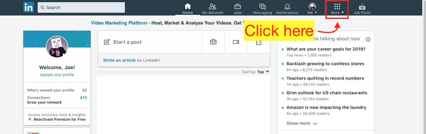 How to Create a LinkedIn Ad Account - Step 2 Screenshot