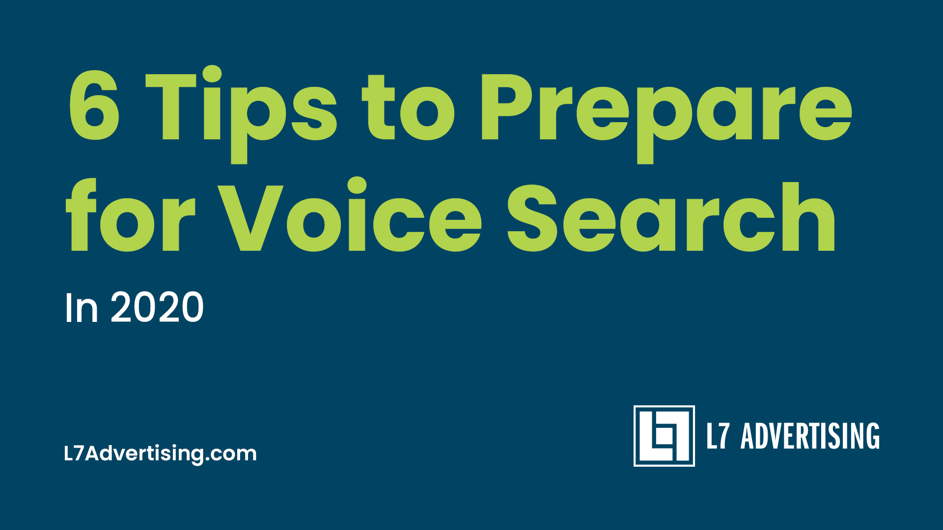 Voice Search In 2020