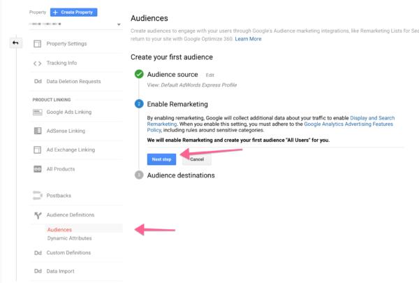 retargeting create your audience