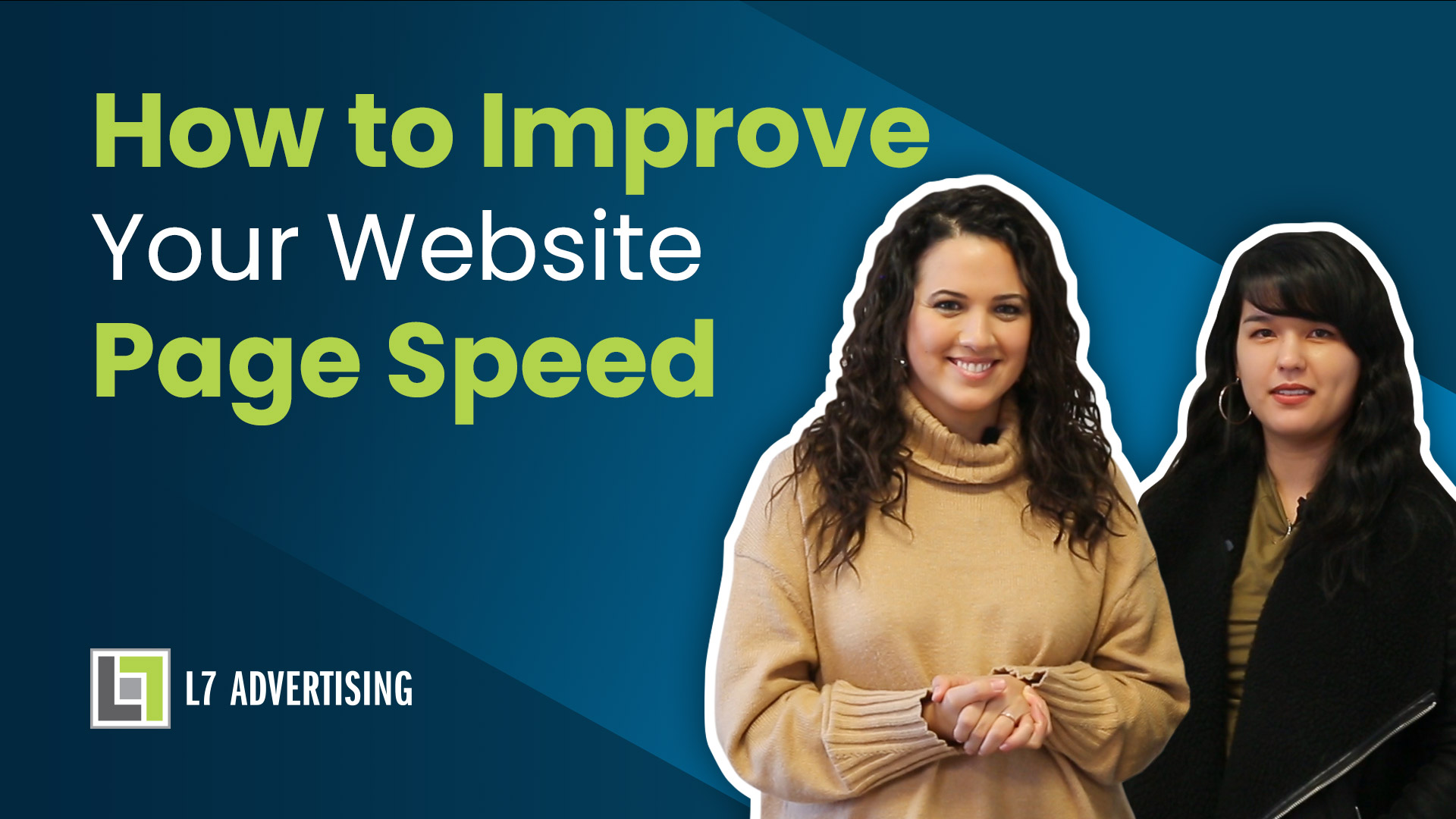 Cover photo for how to improve your website page speed load time youtube video